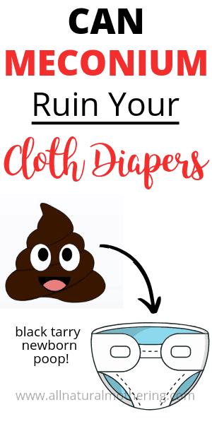 meconium poop and cloth diaper