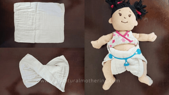 how to pad fold a prefold diaper