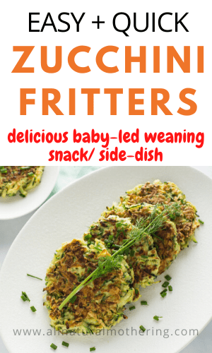 Zucchini Fritters For Babies & Toddlers