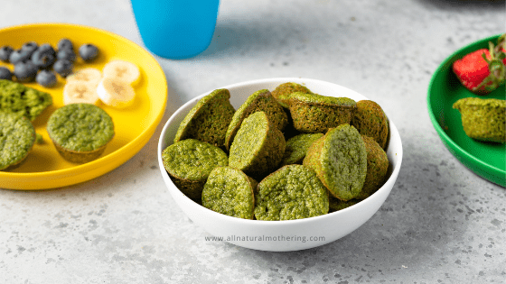 Easy Blender Muffins – Spinach + Oats for Toddlers