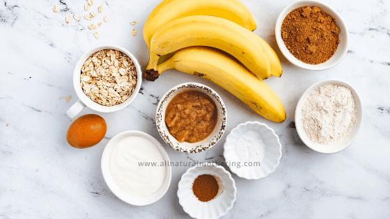toddler banana oatmeal muffin