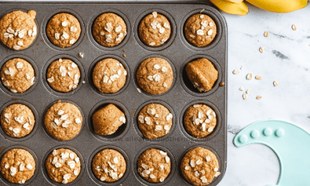 Easy + Healthy Banana Oatmeal Muffin For Toddlers