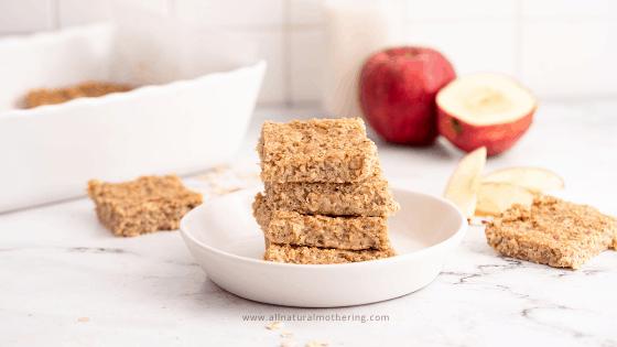 toddler apple oat bars